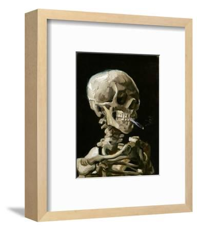 Head of a Skeleton with a Burning Cigarette-Vincent van Gogh-Framed Premium Giclee Print