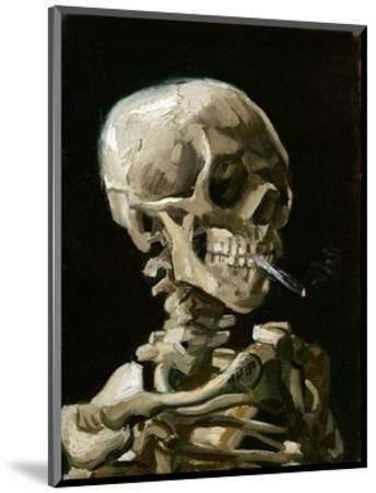 Head of a Skeleton with a Burning Cigarette-Vincent van Gogh-Mounted Premium Giclee Print