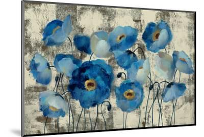 Aquamarine Floral-Silvia Vassileva-Mounted Premium Giclee Print