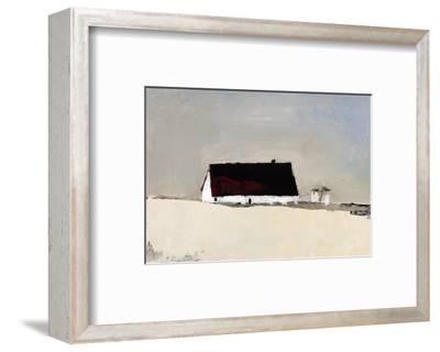 Big Barn and Silos-Sandra Pratt-Framed Premium Giclee Print