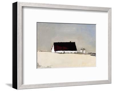 Big Barn and Silos-Sandra Pratt-Framed Giclee Print