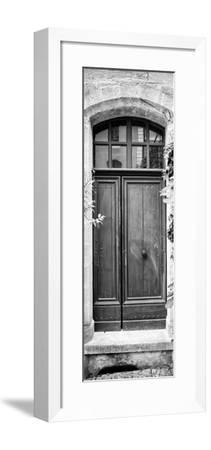 France Provence Panoramic Collection - Black Door B&W-Philippe Hugonnard-Framed Photographic Print