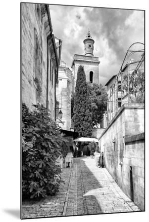 France Provence B&W Collection - Street Scene III - Uzès-Philippe Hugonnard-Mounted Photographic Print