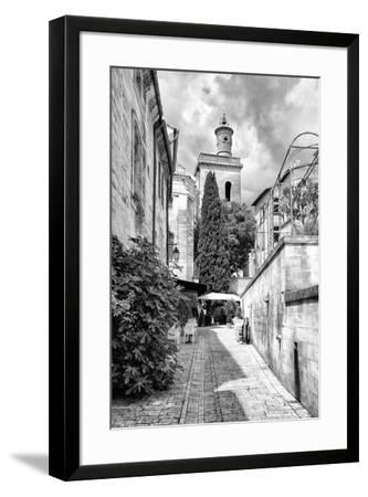 France Provence B&W Collection - Street Scene III - Uzès-Philippe Hugonnard-Framed Photographic Print