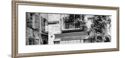 France Provence Panoramic Collection - Beautiful Provencal Architecture B&W - Uzès-Philippe Hugonnard-Framed Photographic Print