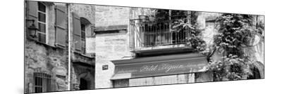 France Provence Panoramic Collection - Beautiful Provencal Architecture B&W - Uzès-Philippe Hugonnard-Mounted Photographic Print