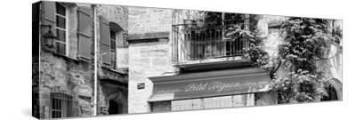 France Provence Panoramic Collection - Beautiful Provencal Architecture B&W - Uzès-Philippe Hugonnard-Stretched Canvas Print