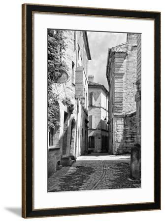 France Provence B&W Collection - Typical Street Scene IV - Uzès-Philippe Hugonnard-Framed Photographic Print