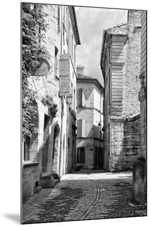 France Provence B&W Collection - Typical Street Scene IV - Uzès-Philippe Hugonnard-Mounted Photographic Print