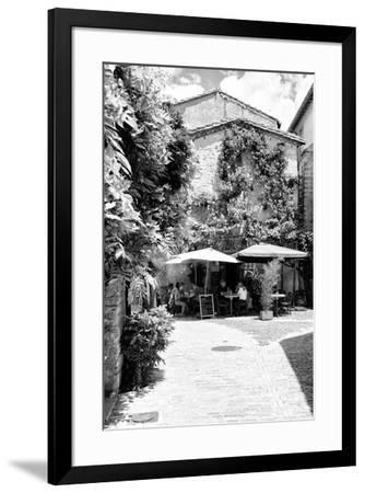 France Provence B&W Collection - Provencal Restaurant - Uzès-Philippe Hugonnard-Framed Photographic Print