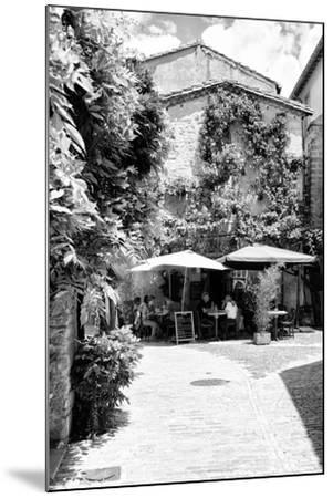 France Provence B&W Collection - Provencal Restaurant - Uzès-Philippe Hugonnard-Mounted Photographic Print