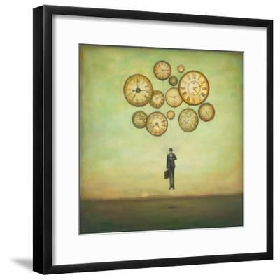 Waiting for Time to Fly-Duy Huynh-Framed Premium Giclee Print