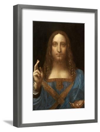 Salvator Mundi-Leonardo Da Vinci-Framed Art Print