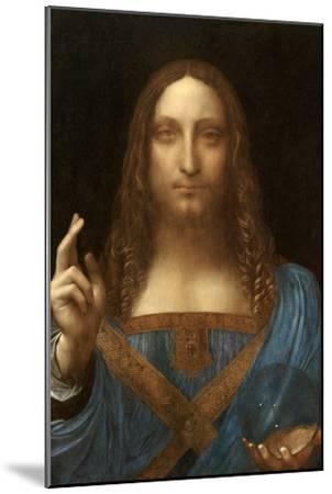 Salvator Mundi-Leonardo Da Vinci-Mounted Art Print
