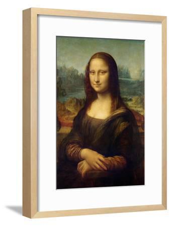 Mona Lisa-Leonardo Da Vinci-Framed Premium Giclee Print