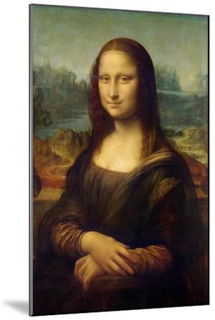 Mona Lisa-Leonardo Da Vinci-Mounted Premium Giclee Print