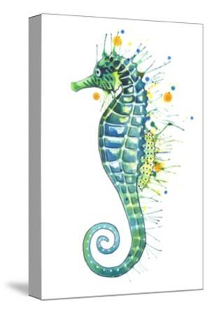 Green Seahorse-Sam Nagel-Stretched Canvas Print