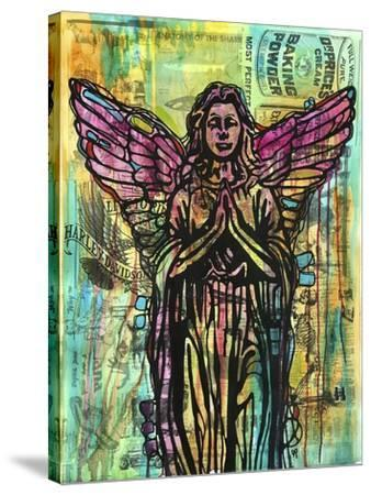 Most Perfect Angel, Angels, Statues, Dripping, Pop Art, Watercolor, Religious, Spirituality-Russo Dean-Stretched Canvas Print