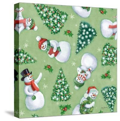 Classic Snowmen Step 01C-Mary Urban-Stretched Canvas Print