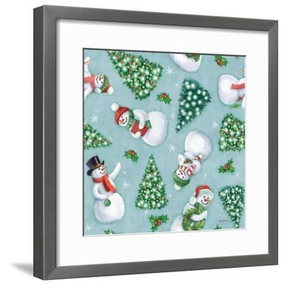 Classic Snowmen Step 01D-Mary Urban-Framed Art Print