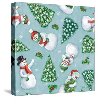 Classic Snowmen Step 01D-Mary Urban-Stretched Canvas Print