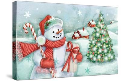 Classic Snowmen I-Mary Urban-Stretched Canvas Print