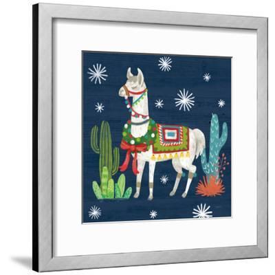 Lovely Llamas V Christmas-Mary Urban-Framed Art Print