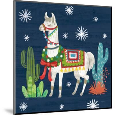 Lovely Llamas V Christmas-Mary Urban-Mounted Art Print