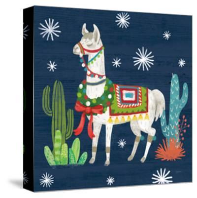Lovely Llamas V Christmas-Mary Urban-Stretched Canvas Print