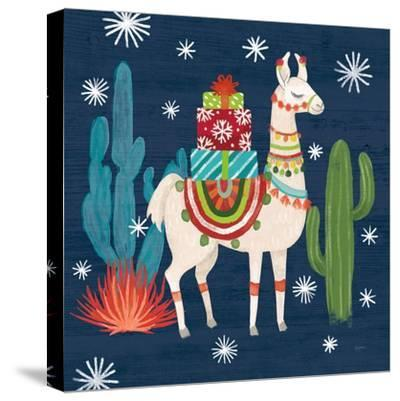 Lovely Llamas II Christmas-Mary Urban-Stretched Canvas Print