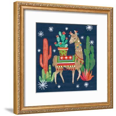 Lovely Llamas III Christmas-Mary Urban-Framed Art Print