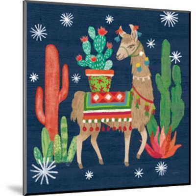 Lovely Llamas III Christmas-Mary Urban-Mounted Art Print
