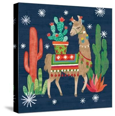 Lovely Llamas III Christmas-Mary Urban-Stretched Canvas Print