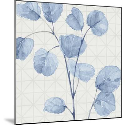Mixed Greens LII Blue-Lisa Audit-Mounted Art Print