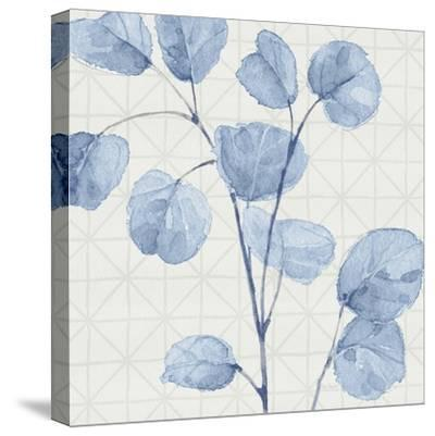 Mixed Greens LII Blue-Lisa Audit-Stretched Canvas Print
