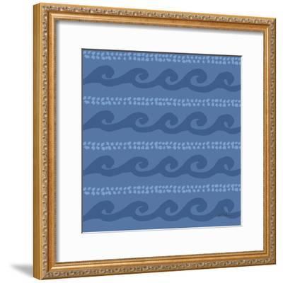 Deep Sea Step 02D-Anne Tavoletti-Framed Art Print