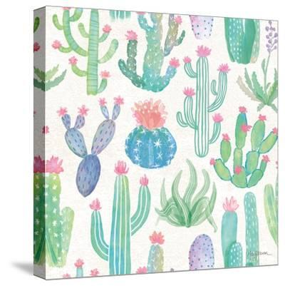 Bohemian Cactus Step 01A-Mary Urban-Stretched Canvas Print