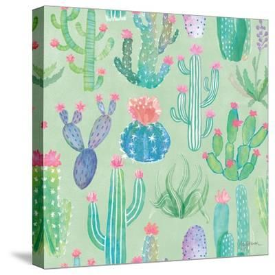 Bohemian Cactus Step 01C-Mary Urban-Stretched Canvas Print