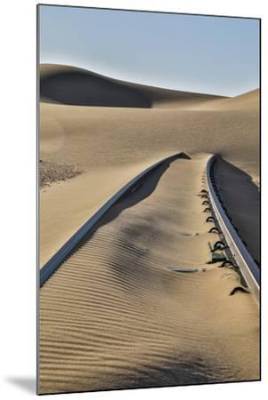 Africa, Namibia, Garub, Railroad Tracks and Drifted Sand-Hollice Looney-Mounted Photographic Print