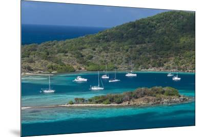 British Virgin Islands, Jost Van Dyke. Long Bay from Roach Hill-Walter Bibikow-Mounted Photographic Print