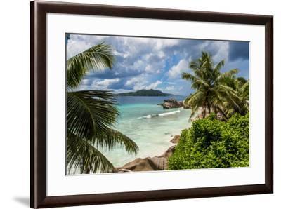 Anse Severe beach, La Digue, Republic of Seychelles, Indian Ocean.-Michael DeFreitas-Framed Photographic Print