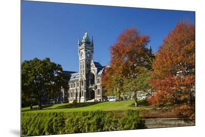 Clock Tower, Registry Building, University of Otago in Autumn, Dunedin, South Island, New Zealand-David Wall-Mounted Photographic Print