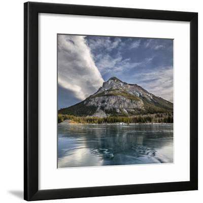 Canada, Alberta, Bow Valley Provincial Park, Mount Baldy and frozen Barrier Lake-Ann Collins-Framed Premium Photographic Print