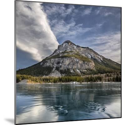 Canada, Alberta, Bow Valley Provincial Park, Mount Baldy and frozen Barrier Lake-Ann Collins-Mounted Premium Photographic Print