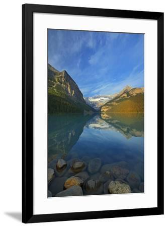 Canada, Alberta, Banff National Park. Lake Louise and Canadian Rocky Mountains.-Jaynes Gallery-Framed Photographic Print