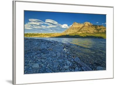 Canada, Alberta, Waterton Lakes National Park. Sunrise on Vimy Ridge and Lower Waterton Lake.-Jaynes Gallery-Framed Photographic Print