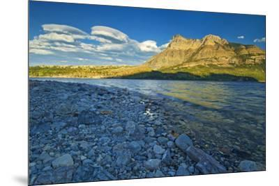 Canada, Alberta, Waterton Lakes National Park. Sunrise on Vimy Ridge and Lower Waterton Lake.-Jaynes Gallery-Mounted Photographic Print
