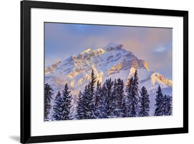 Mt. Cory from the town of Banff, Canadian Rockies, Alberta, Canada-Stuart Westmorland-Framed Photographic Print