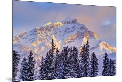 Mt. Cory from the town of Banff, Canadian Rockies, Alberta, Canada-Stuart Westmorland-Mounted Photographic Print
