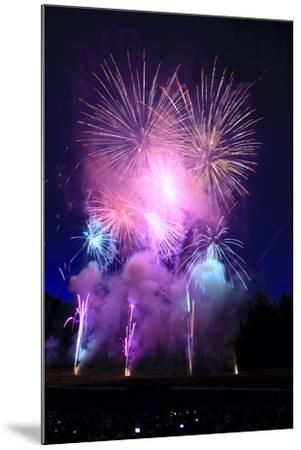 Summer evening spectacular fireworks show-Stuart Westmorland-Mounted Photographic Print